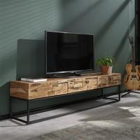 Media Unit Mill Solid Acacia wood 3d
