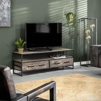 Media Unit Teller Solid Acacia wood 2d