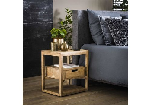 Bedside table Ipswich Solid Mango Wood 1d