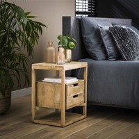 Bedside table Ipswich Solid Mango Wood 2d