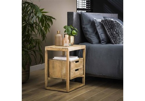 Bedside table Ipswich Solid Mango Wood 2d