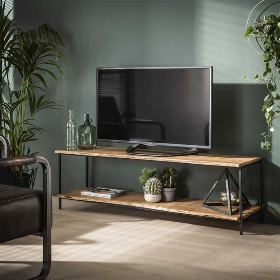 Industrial Media Unit Dolman Solid Acacia wood