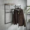Hardwood coat rack Arthur wall shelf 14 hooks