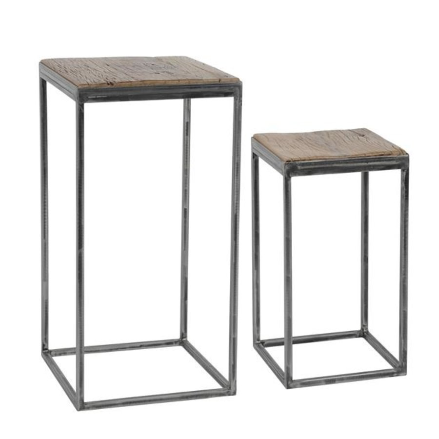 Industrial Side Table Dudgeon (set of 2) high