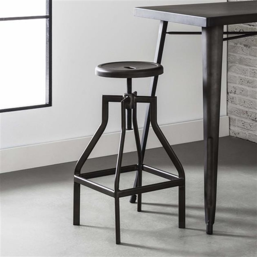 Industrial adjustable bar stool Harrison metal