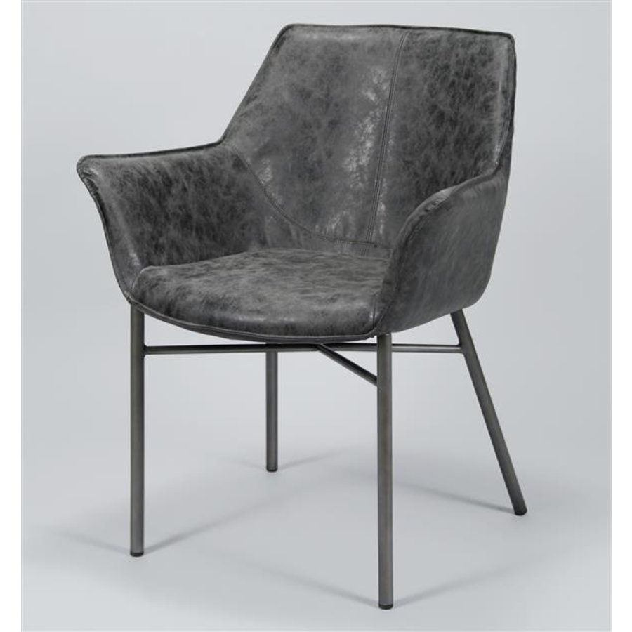 Industrial Dining Chair Takeley Black