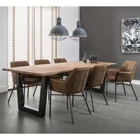Industrial Dining Chair Takeley Brown