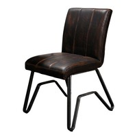 Industrial Dining Chair Melford Brown