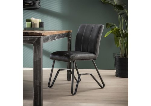 Industrial Dining Chair Melford Anthracite
