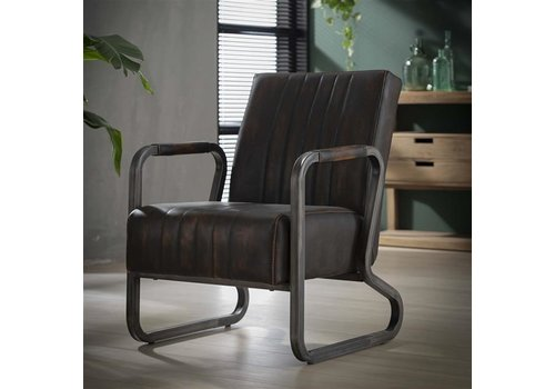 Industrial Dining Chair Sadbury Brown