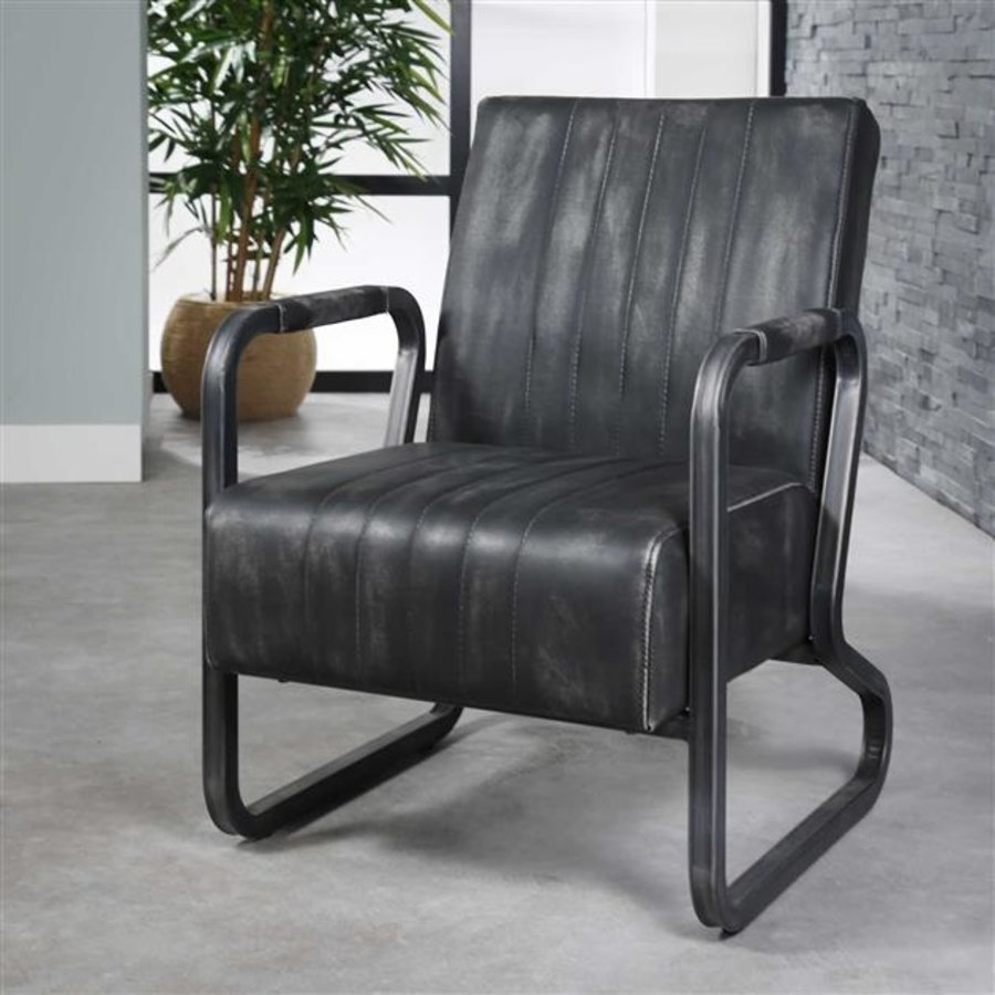 Industrial Dining Chair Sadbury Anthracite