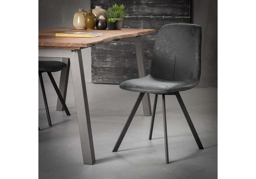 Industrial Dining Chair Sawston Black