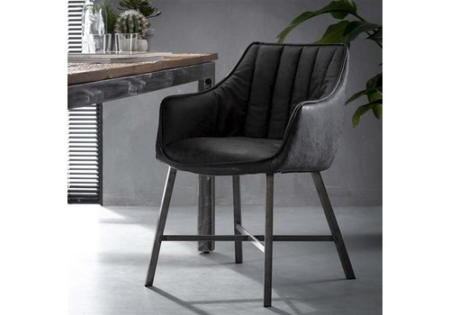Industrial Dining Chair Witham Black