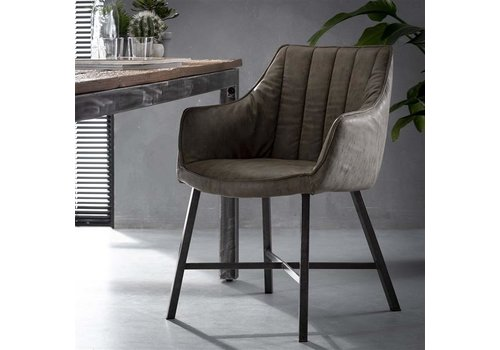 Industrial Dining Chair Witham Taupe