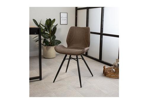 Industrial Dining Chair Barron  Premium Brown