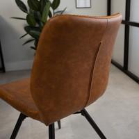 Industrial Dining Chair Barron Premium Cognac
