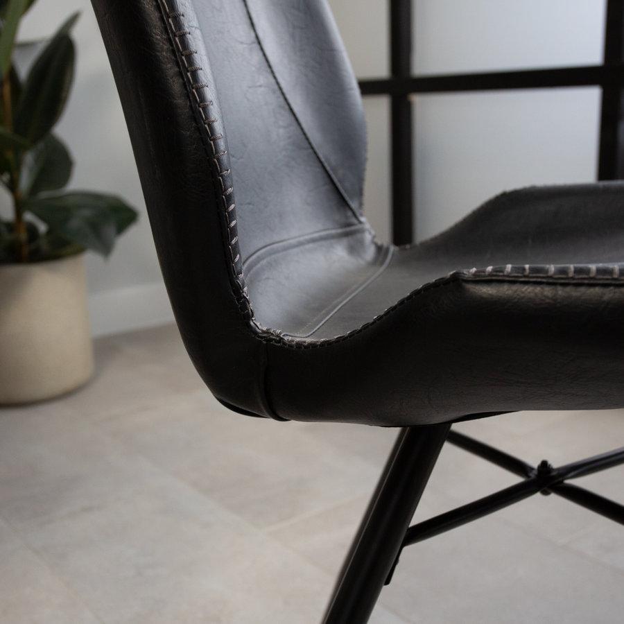 Industrial Dining Chair Barron Premium Black