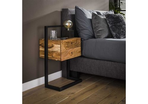 Industrial Bedside Table Snitterby