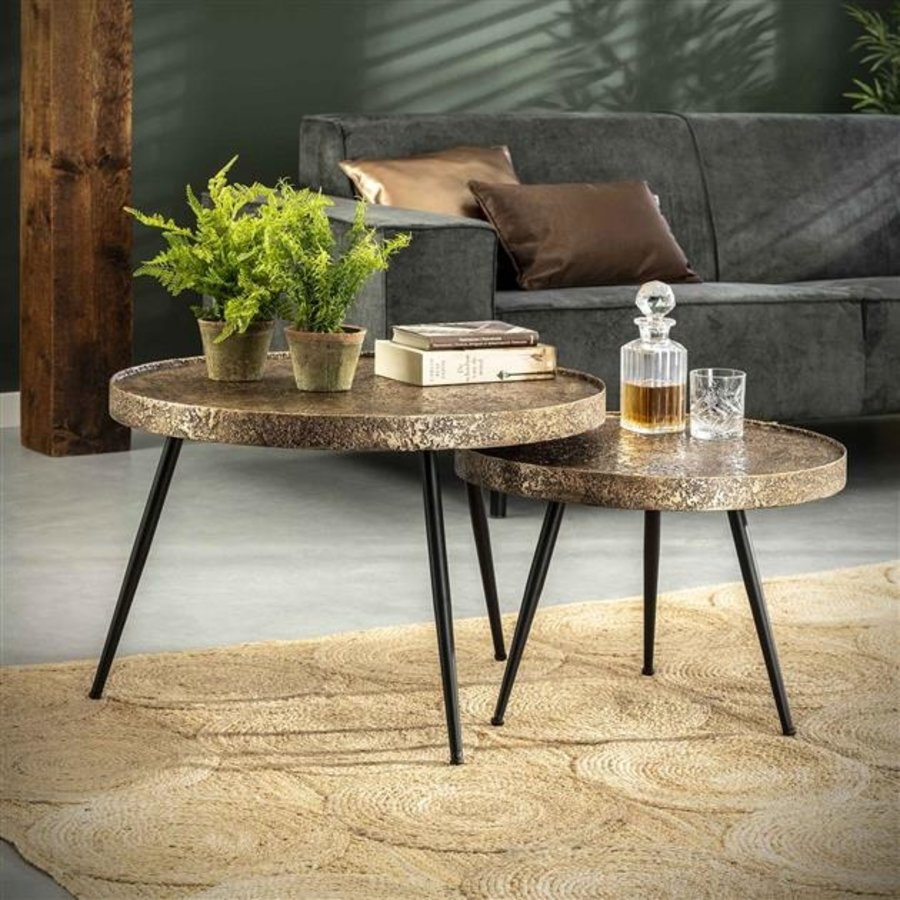 Industrial Coffee table Somerby (set of 2)