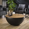 Industrial Coffee Table  Belby Robust Hardwood
