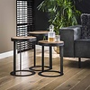 Industrial Side Table Belby Robust Hardwood  (set of 3)
