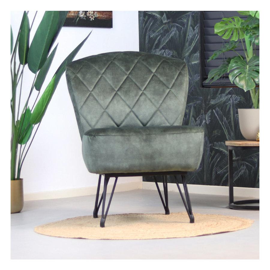 Velvet armchair Else Green