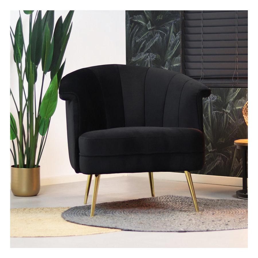 Velvet armchair Amy black