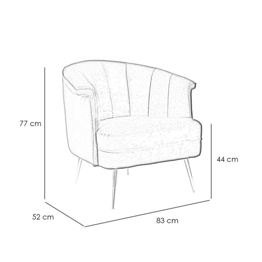 Velvet armchair Amy Green
