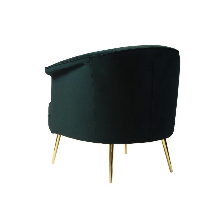 Velvet armchair Amy dark green