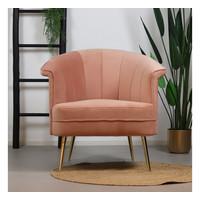 Velvet armchair Amy Pink