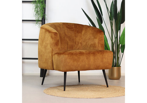 Velvet armchair Billy Yellow