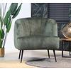Velvet armchair Billy Green