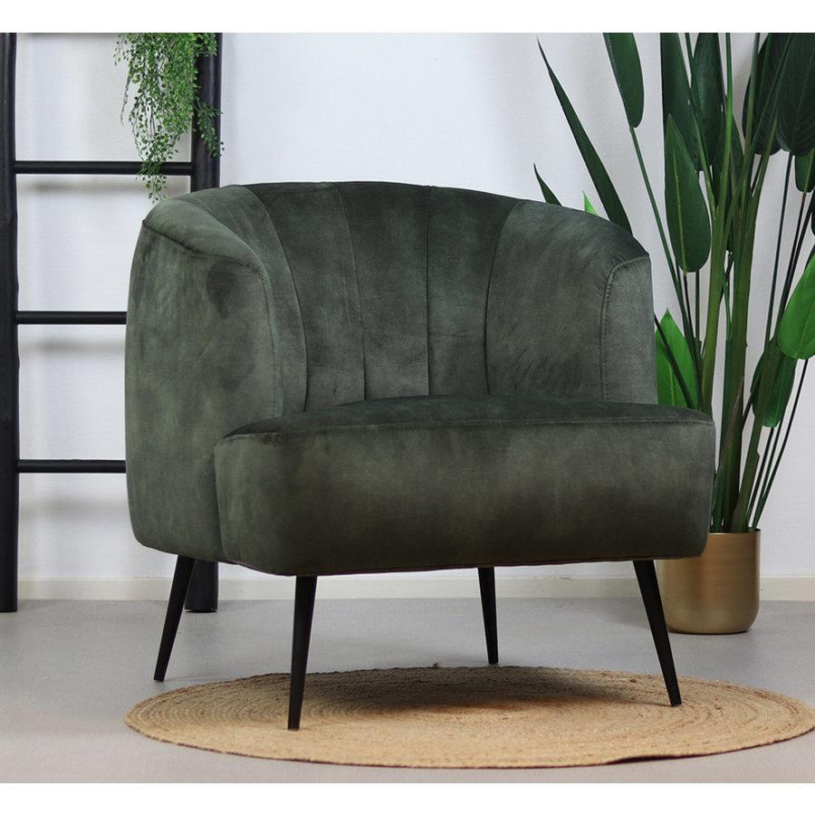Velvet armchair Billy dark green