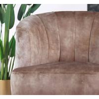 Velvet armchair Billy Taupe