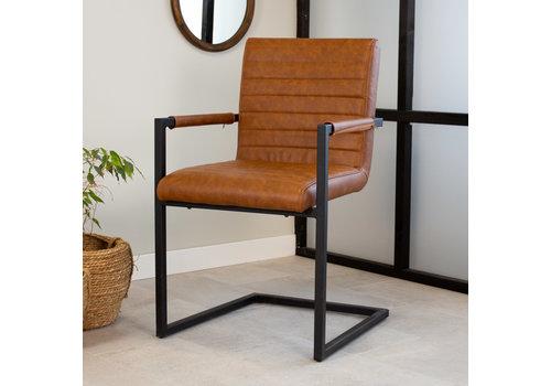 Industrial Dining Chair Kubis Cognac