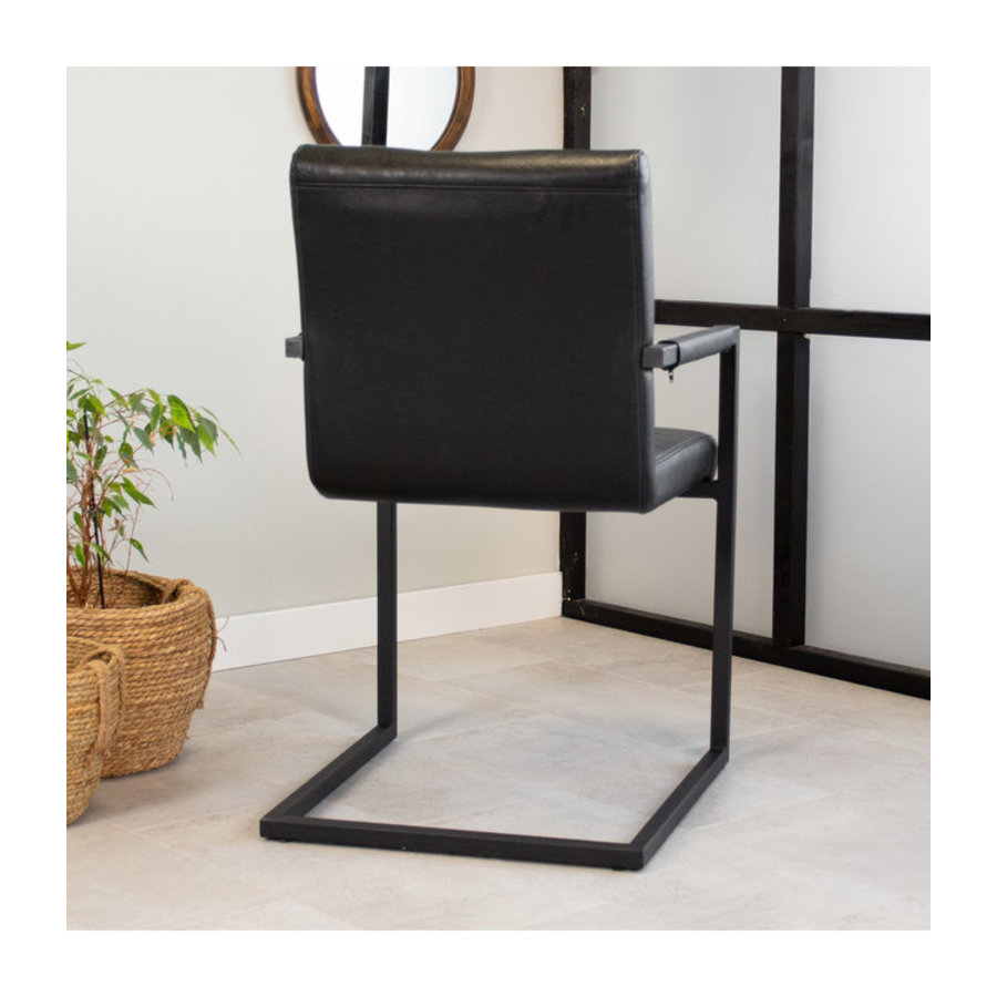 Industrial Dining Chair Kubis Black