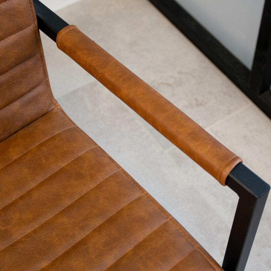 Industrial Dining Chair Kubis Premium Cognac
