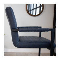 Industrial Dining Chair Kubis Blue