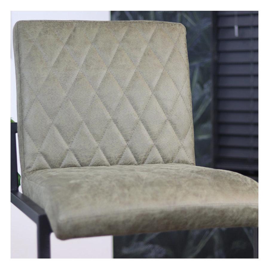Bar Stool Diamond Olive Green Leather