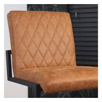 Bar Stool Diamond Cognac Leather