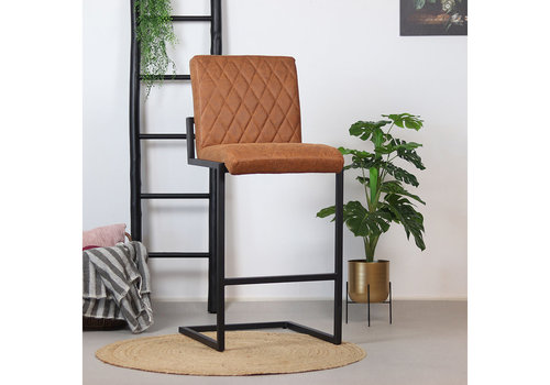 Bar Stool Diamond Cognac Leather