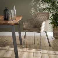 Industrial dining chair Bennett Champagne