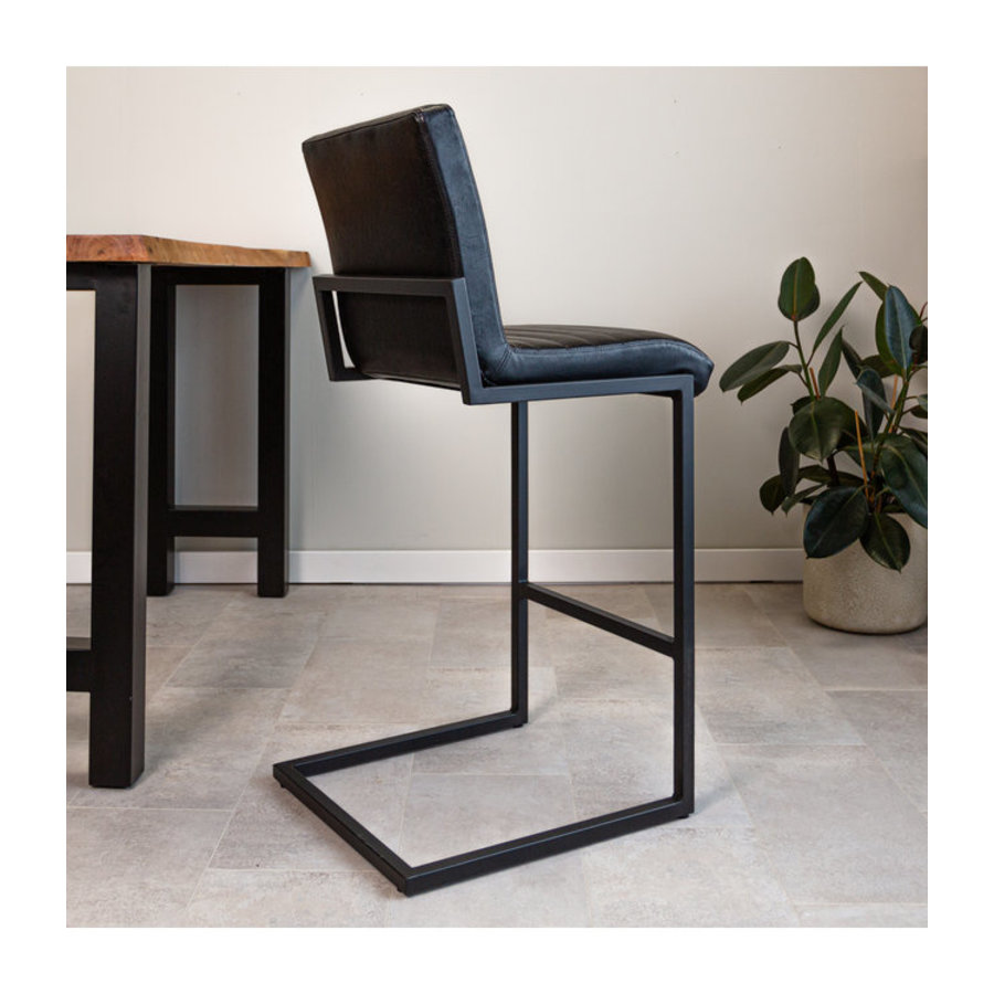 Industrial Bar Stool Kubis Black