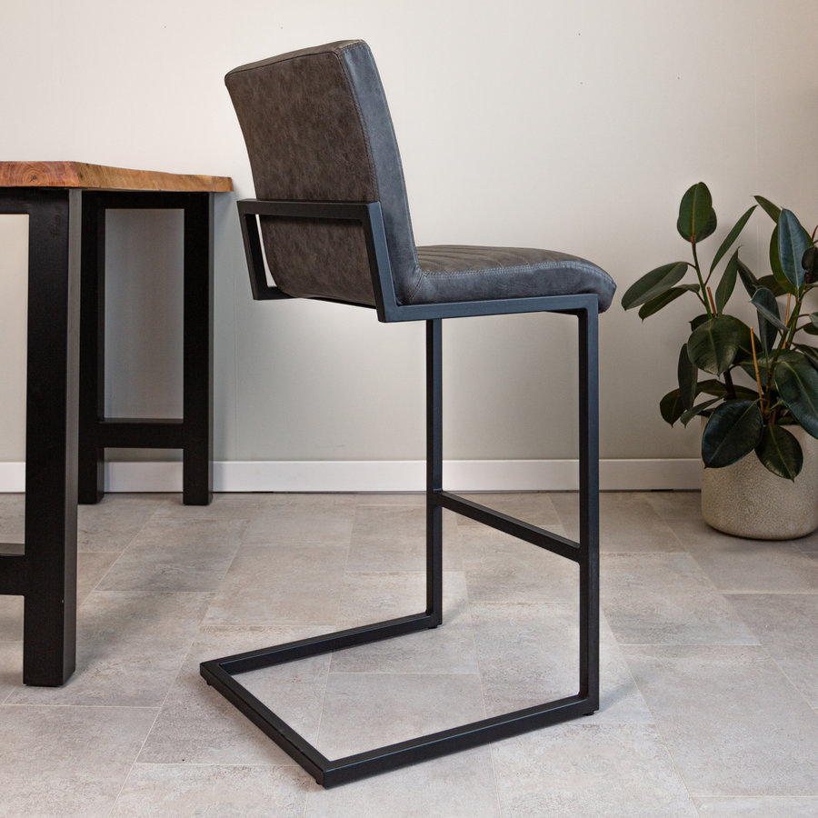 Industrial Bar Stool Kubis Anthracite