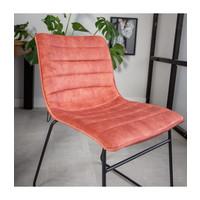 Industrial Dining chair Rover velvet Pink