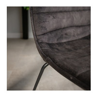 Industrial Dining chair Rover velvet Anthracite