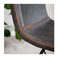 Industrial dining chair Jace Anthracite