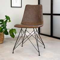 Industrial dining chair Jace Brown