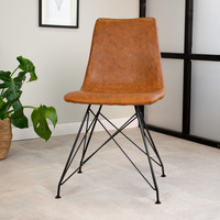 Industrial dining chair Jace Cognac