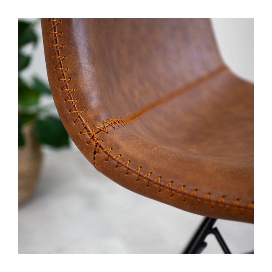 Industrial dining chair Jace Premium Cognac